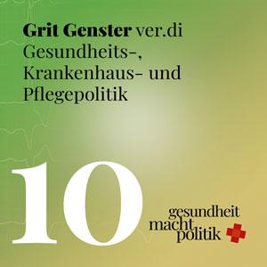 gmp010 Interview mit Grit Genster von ver.di u.a. zu Personal- und Pflegefragen, Sondierungsgespräche und Antibiotikaresistenzen