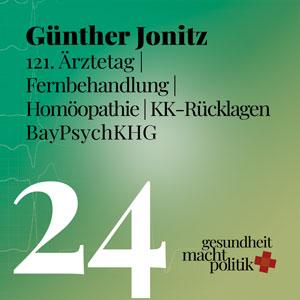 gmp024 Günther Jonitz | 121 Ärztetag | Homöopathie |KK Rücklagen